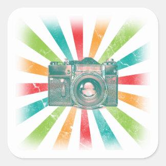 Retro Camera Square Sticker