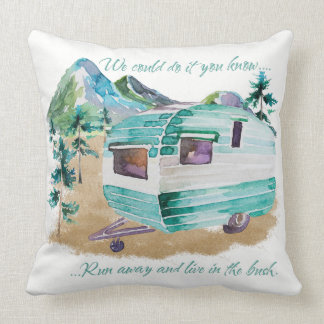 Retro Camper Caravan Cushion