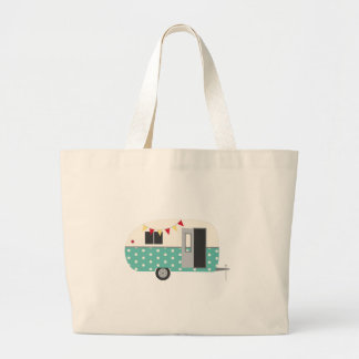 Retro Camper Large Tote Bag