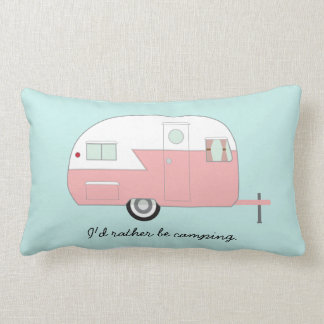 Retro Camper Pillow - Pink