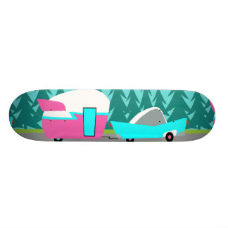 Retro Camper / Trailer and Car Skateboard