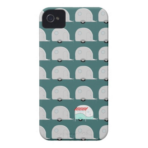 Retro Campers in Grey iPhone 4 Case