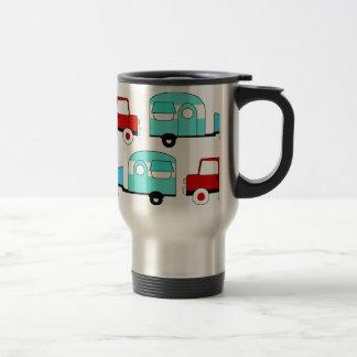 Retro Camping Trailer Turquoise Red Vintage Cars Mug