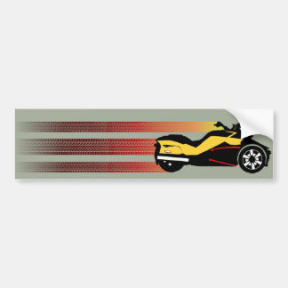 Retro Can Am Spyder Bumper Sticker