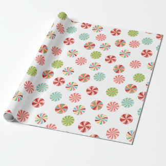 Retro Candy Christmas Wrapping Paper Gift Wrap