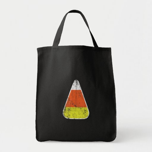 Retro Candy Corn Trick or Treat Bag