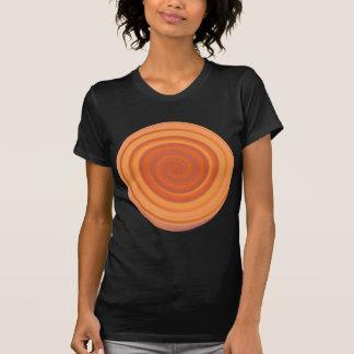 Retro Candy Swirl in Peach Orange T-Shirt