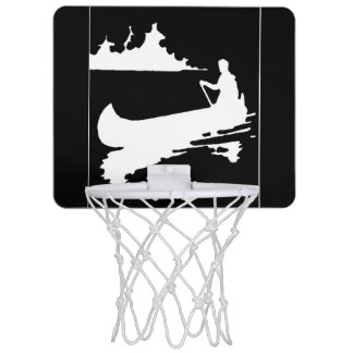 Retro Canoe Silhouette Mini Basketball Hoop