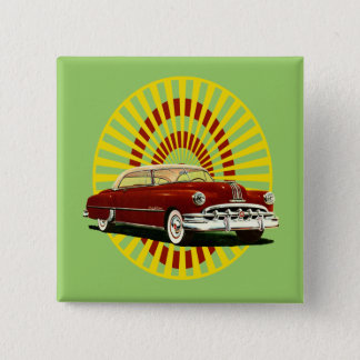 Retro Car 15 Cm Square Badge