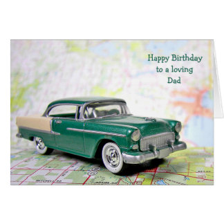 Retro Car for Dad's Birthday Card