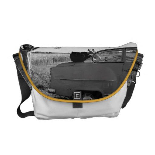 retro car messenger bag