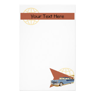 Retro Car Stationery