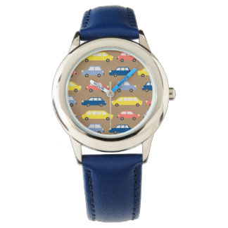 Retro Cartoon Cars Colorful Traffic Jam Cheerful Watch