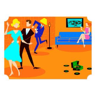 Retro Cartoon Cocktail Party Invitations
