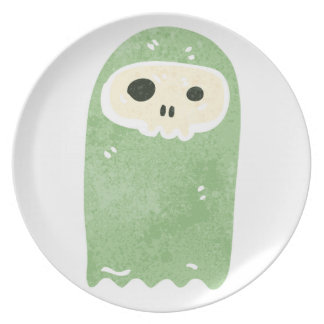 Retro Cartoon Ghost Party Plate