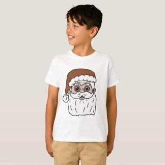 Retro Cartoon Santa Claus Head T-Shirt
