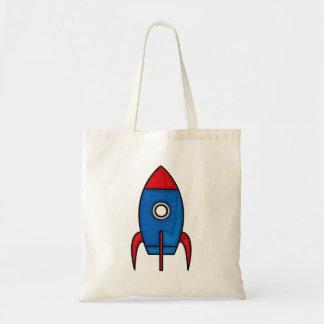 Retro Cartoon Space Rocket Bag