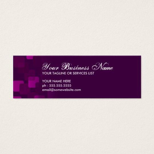 retro cascades mini business card