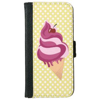 Retro case with ice cream design iPhone 6 wallet case