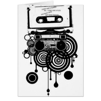 retro cassette greeting card