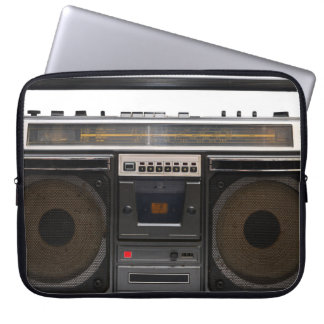 retro cassette player music hipster stereo tape laptop sleeve