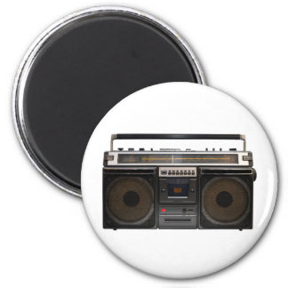 retro cassette player music hipster stereo tape vi 6 cm round magnet