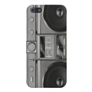 Retro Cassette Stereo iPhone 4/4S Case Cover - Dar