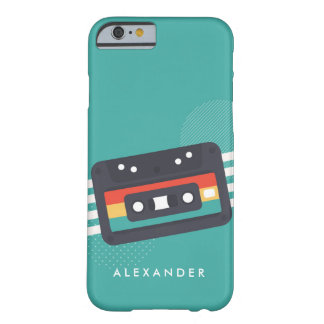 Retro Cassette Tape 80's Personalized Phone Barely There iPhone 6 Case