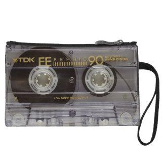 Retro Cassette Tape and Album Clutch Bag Wristlet