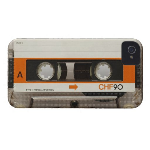 Retro Cassette Tape iPhone 4 Case-Mate Case