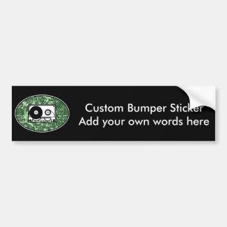 Retro Cassette Tape Green Bumper Sticker