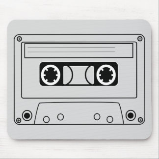 Retro cassette tape grunge music mouse pad