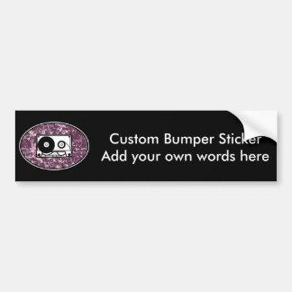 Retro Cassette Tape Pink Bumper Sticker