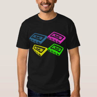 Retro cassette tape pop art colourful t-shirt
