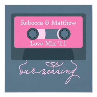 Retro Cassette Tape Wedding Card