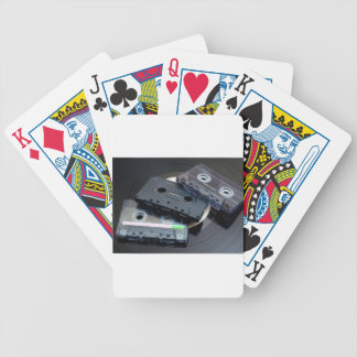 Retro Cassette Tapes Bicycle Playing Cards