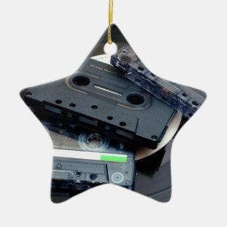 Retro Cassette Tapes Ceramic Ornament
