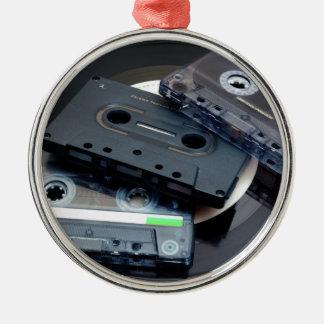 Retro Cassette Tapes Metal Ornament