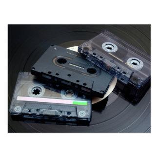 Retro Cassette Tapes Postcard