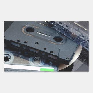 Retro Cassette Tapes Rectangular Sticker