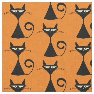 Retro Cat Fabric
