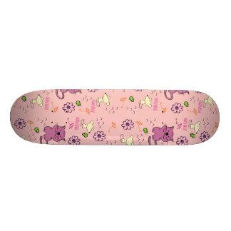 Retro Cat Feline Pattern Skateboards