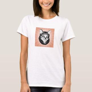 Retro Cat Stencil Design T-Shirt