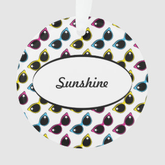 Retro Cat Sunglasses Pattern Ornament