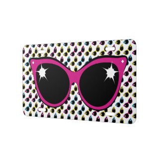 Retro Cat Sunglasses Pattern with Pink