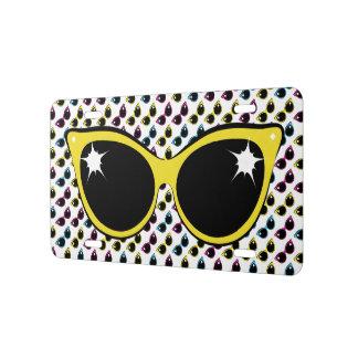 Retro Cat Sunglasses Pattern with Yellow