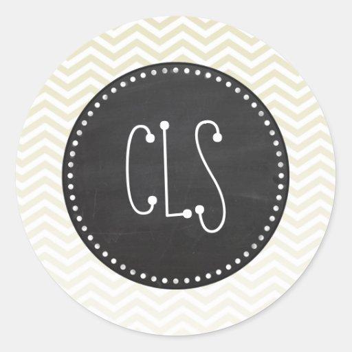 Retro Chalkboard; Beige Chevron; zig zag Stickers