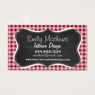 Retro Chalkboard; Carmine Red Gingham; Checkered