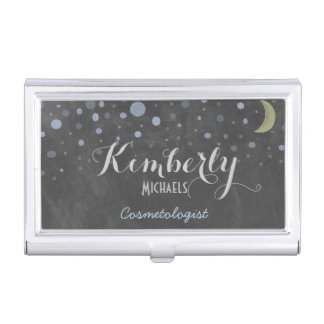 Retro Chalkboard with Moon /Stars Card Case
