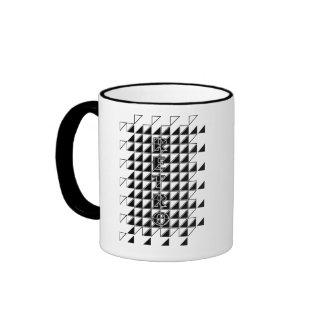 retro check mug